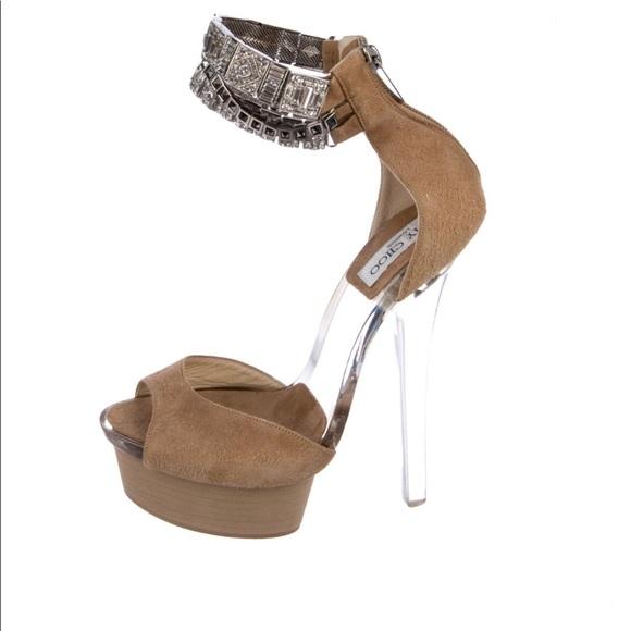 2075e9c381e7 Jimmy Choo Embellished Platform Sandals Ciara
